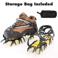 Ice Cleats Crampons Traction Snow Grips Anti-Slip For Mountaineering Ice Climbin