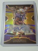 2020 Panini Chronicles Football Draft Hunter Bryant Auto # 9/10 Detroit Lions