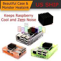Raspberry Pi B/2/3 Model B Protective Enclosure Shell Case Moster Heatsink