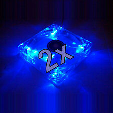 2x [Xilence] 120mm LED Blau/Blue Gehäuse-Lüfter/Fan →12cm PC Case Transparent