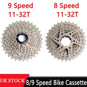 8/9 Speed Freewheel Bike Cassette Bicycle Freewheel 11-32T For Shimano Altus UK