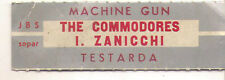 STICKER JUKE BOX - THE COMMODORES - MACHINE GUN - IVA ZANICCHI - TESTARDA