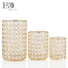 3PCS Cylinder Crystal Tealight Candle Modern Anniversary Celebration Home Decor