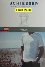Schiesser American T-shirt WEISS 2xl Rundhals Shirt Herren