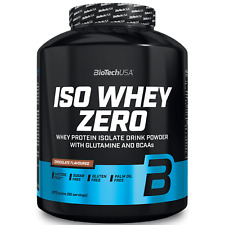 Iso Whey Zero 2270 gr Biotech Proteine Isolate del Siero Latte senza Glutine