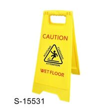 U-Clean Caution Safety Commercial Janitorial Yellow Wet Floor carry Cone Signs
