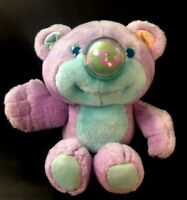 "HTF Playskool Nosy Bear Plush 11"" Dizzy Bear Purple Mint Green Vintage 1987"