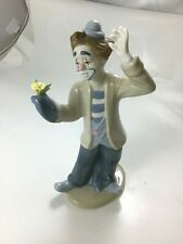 Porcelain Clown Figurine - Made in Mexico Ps 1993