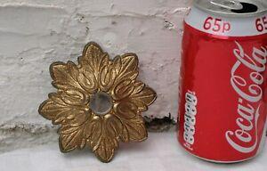 VINTAGE RECLAIMED CHANDELIER GOLD GILT COLOURED METAL CEILING ROSE or BOBECHE