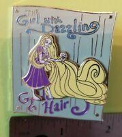 DISNEY PIN TANGLED RAPUNZEL GIRL DAZZLING GOLDEN HAIR CIRCUS POSTER LE 300 SET