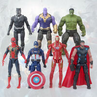 Avengers Action Figures Toy Set 7 Pcs Hero - IronMan Hulk Spiderman Thanos Thor