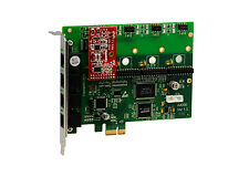 OpenVox A400E01 A400E 4 Port Analog PCI-E card + 0 FXS + 1 FXO, Ethernet (RJ45)