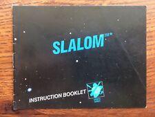 Slalom Black Box Version NES Nintendo Instruction Manual Only