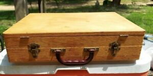 Vintage Artist's Travel Paint Box Wooden Dove Tailed CaseWith Palette