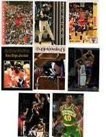 Michael Jordan Old basketball 8 card lot Charles Barkey Shawn Kemp