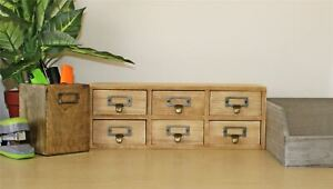 6 Drawer Small Storage Unit Trinket Drawers Office Desk Organiser Cabinet