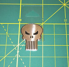 "The Punisher Sticker Classic Skull Marvel Comics Metallic 1.125"" Licensed - NEW"