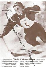 Autogramm Trude Jochum Beiser Olympiasiegerin 1948 + 52 für Österreich ORIGINAL#
