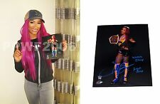 WWE SASHA BANKS HAND SIGNED AUTOGRAPHED 8X10 PHOTOFILE PHOTO WITH EXACT PROOF 6