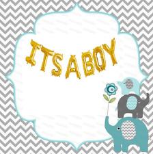 "40"" Its A Boy Supershape Foil Letter Balloon Set - Flat In Gold (ITSABOY-GOLD)"