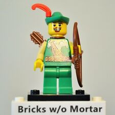 New Genuine LEGO Forestman Minifig with Bow and Arrow Series 1 8683