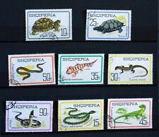 Albanie   faune  reptiles  tortue serpent ...  1966  Yt 907/14 oblitéré   98M378