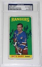 DICK DUFF SIGNED 1964 TOPPS HOCKEY CARD #46 PSA/DNA AUTHENTICATED RANGERS