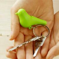 1*Lovely White Single House Sparrow Cute Bird Key Ring Holder Home Decor Gift