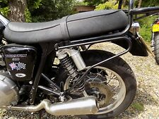 TEC Black Pannier / Saddle Bag Bars - Triumph (Aircooled) Bonneville SE Thruxton