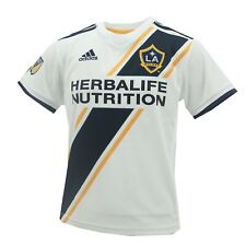 Los Angeles Galaxy Official MLS Adidas Toddler & Kids Size Athletic Jersey New