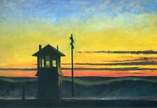 Edward Hopper - Railroad Sunset Giclee Poster Print