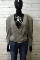 Giacca KRIZIA Donna Size 42 ( M ) Blazer Jacket Jacke Lana Vintage Grigia Woman