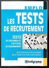 Les tests de recrutement - Sabine Duhamel - 2011 - 224 pages 20 x 14 cm
