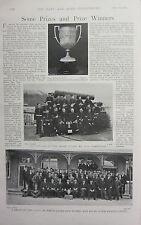 1898 BOER WAR ERA PRINT DEVON COUNTY BIG GUN COMPETITION CHALLENGE CUP GUARDS