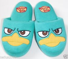 Disney Store Phineas & Ferb Green Slippers Size 9-10