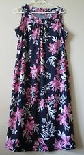Millers Womens Size 14 Navy Floral Sleeveless Shift Dress