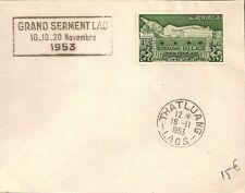 SEUL SUR LETTRE LETTER STAMP ASIE GRAND SERMENT LAO 1953 - THATLUANG - LAOS -