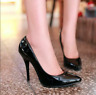 Women Slip On Pointed Toe Stilettos High Heels Dress Shoes Classic Party Pumps
