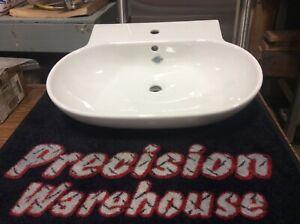 """Duravit 041970 Foster 27 1/2"""" Wall Mount Bathroom Sink with Overflow , Platform"""