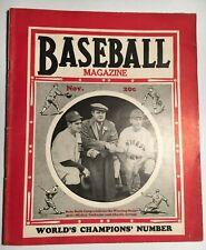 1935 November BASEBALL Magazine w/ BABE RUTH Cover VG+