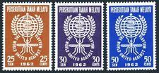 Malaya 102-104,MNH.Michel 23-25. WHO drive to eradicate Malaria,1962.