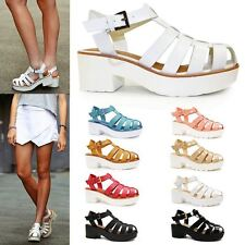 Evening Gladiators 100% Leather Upper Shoes for Women