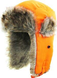 Trapper Aviator Fur Hat Ski Winter Warm Cap Fur Flap