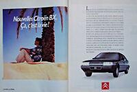 PUBLICITÉ DE PRESSE 1989 NOUVELLE CITROËN BX