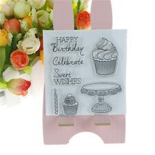 Happy birthday cake stamps seal scrapbooking album card decor diary diy craft  X