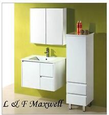Bathroom Wall Hung Vanity with Ceramic Basin and Gloss Doors 750mm