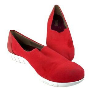 Munro Sport Red Slip On Womens Shoes Size 10W Comfort Lightweight