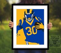 TODD GURLEY Los Angeles Rams Photo Art 8x10 or 11x14 - LA Football Picture Print