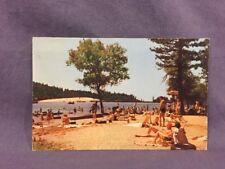 Beach goers At Twain Harte,  California Postcard