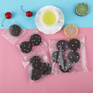 100Pcs Self Seal Adhesive Polka Dots Plastic Cellophane Cookies Candy Gift Bags